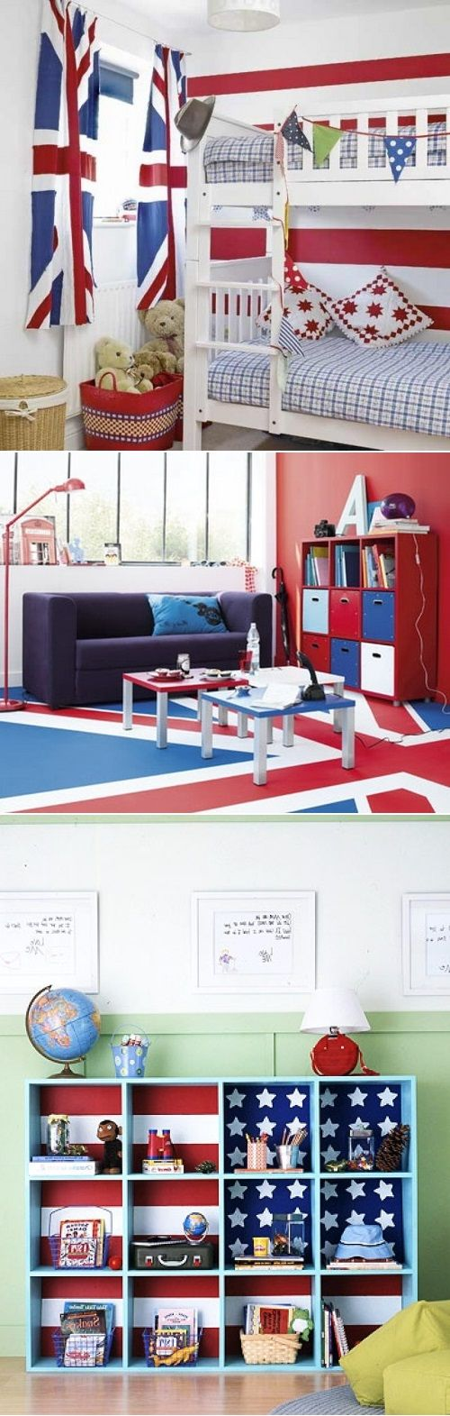Diy flag themed kids bedrooms not sure about the american for American themed bedroom ideas