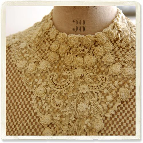 19世紀アンティークレースブラウス - 【Belle Lurette】ヨーロッパ フランス アンティークレース リネン服の通販
