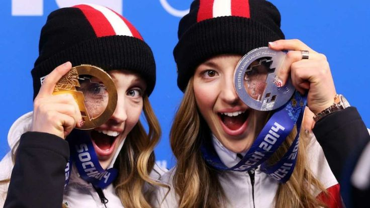 Chloé Dufour-Lapointe and Justine Dufour-Lapointe, Gold and Silver in Women's Moguls
