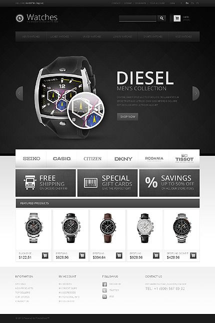 dark eCommerce web design