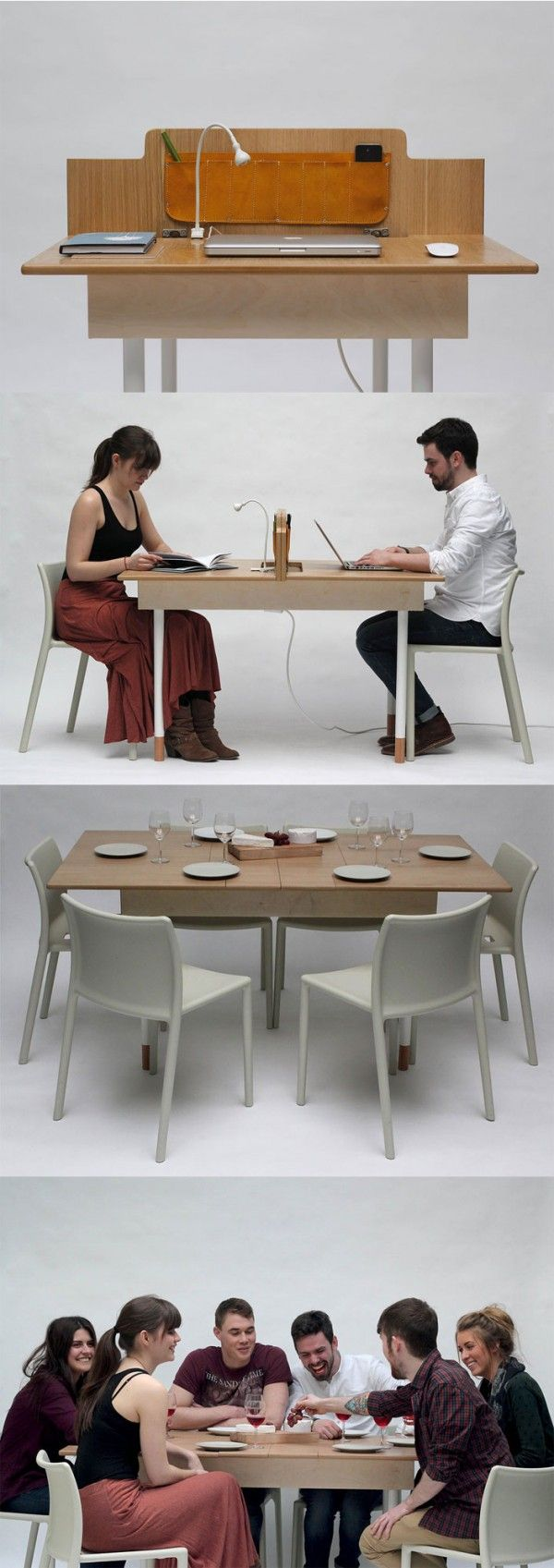 Desk to dining table