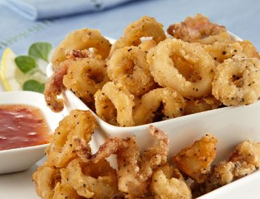 Salt and Pepper Calamari with Sweet Chilli Sauce