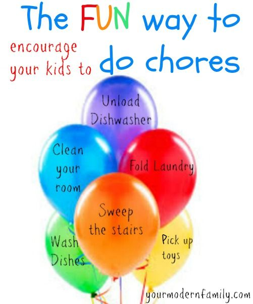 One AMAZING way to make chores fun for kids - writing them on balloons!   Check out how to play this ''game''.!