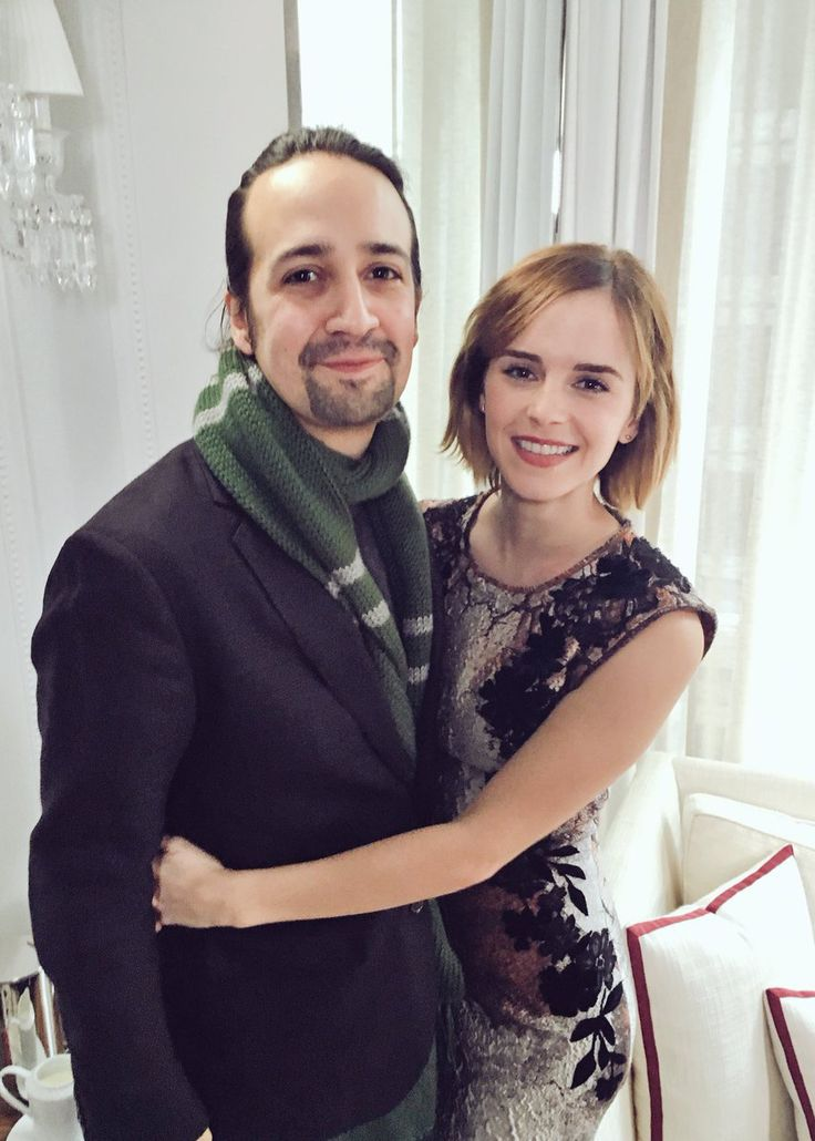 Emma Watson and Lin Manuel Miranda in New York (March 10, 2016)