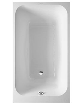 Image of duravit onto rectangle bath 1400 x 800mm with for Small baths 1400