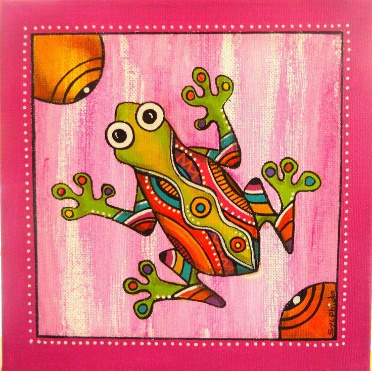 """Peinture de """"Pixie"""" la petite grenouille : Décorations murales par sylphide"""