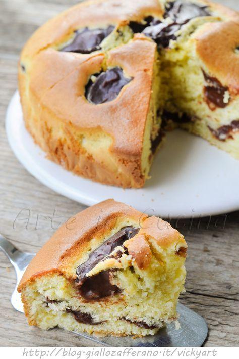 Torta con crema al cioccolato ricetta facile vickyart arte in cucina
