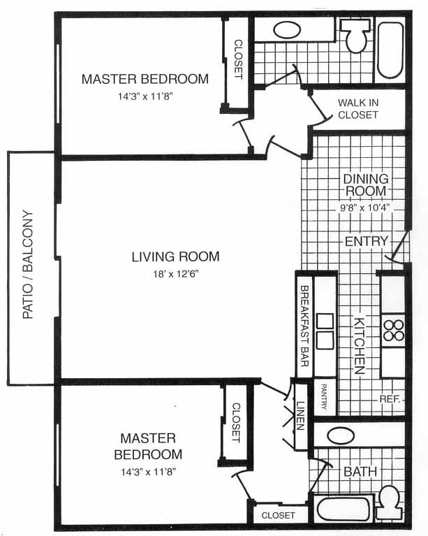 Master suite floor plans for new house master suite floor for Split master bedroom floor plans