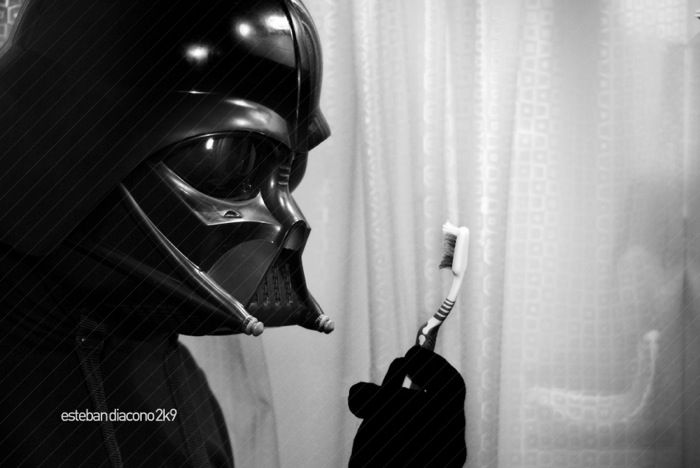 Adapting - Esteban What would happen if Darth Vader really lived on this earth? How would he survive? What would he do? No longer the Supreme Commander of