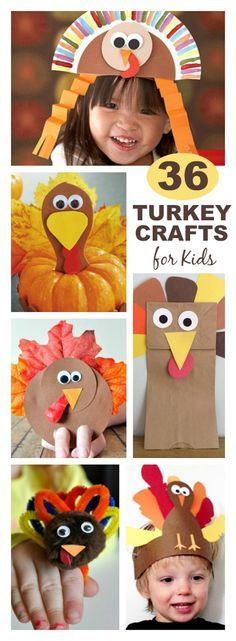 36 ADORABLE THANKSGIVING CRAFTS FOR KIDS- so many fun ideas!