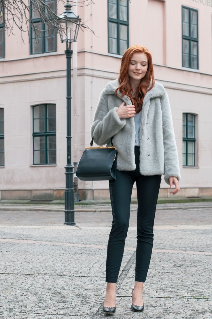 Grey Faux Fur Jacket-5