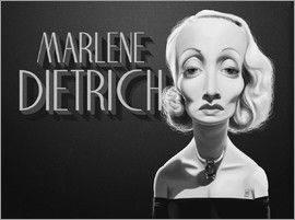 Rob Snow | caricatures - Marlene Dietrich art | decor | wall art | inspiration | caricatures | home decor | idea | humor | gifts