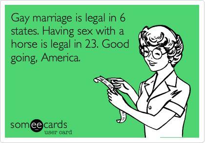 Oh man.: Priorities Straight, Job America, Gay Marriage, Baaaaaahahahahahaa, So True, Ecards, Cousins, So Sad, Country