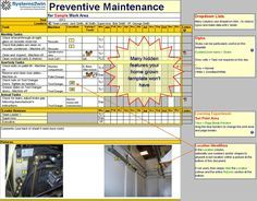 Preventive Maintenance Checklist Excel template for TPM