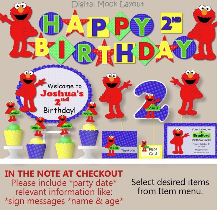 Elmo birthday party sesame street birthday party package