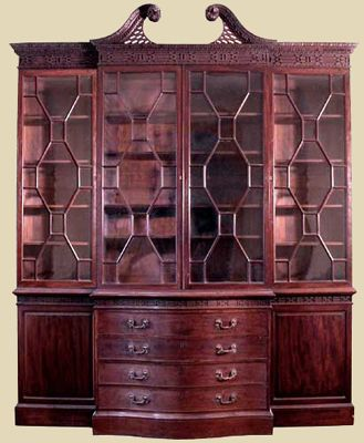 Antique Library Bookcase Always In Stock Oak Bookcases Mahogany