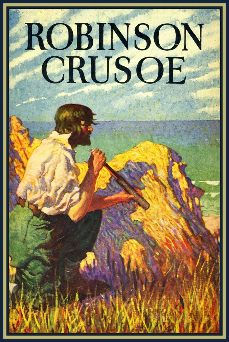 Robinson Crusoe cover by Frank Godwin, 1925. Godwin summered at Fall Brook Point on Skaneateles Lake from 1928 until the early 1940s