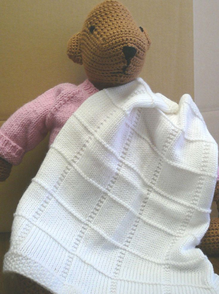 Baby Afghan Squares in Plymouth Dreambaby DK  - F013 - FREE KNITTING pattern - intermediate.- can be used for christening.