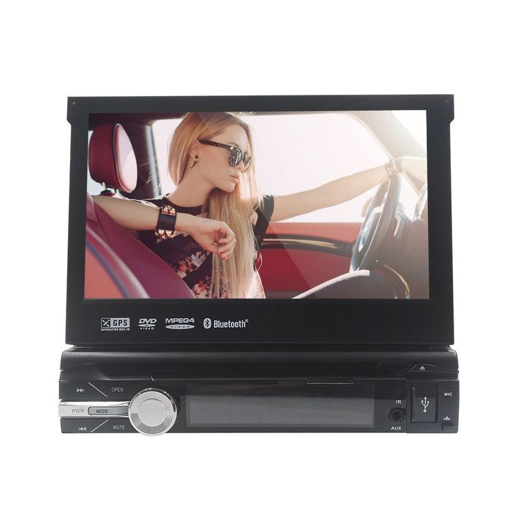 """7"""" 1 Din Wince Car DVD Player GPS Navigation Universal In-dash Detachable Front Panel Auto Radio Audio Stereo NO TV Function1Din"""