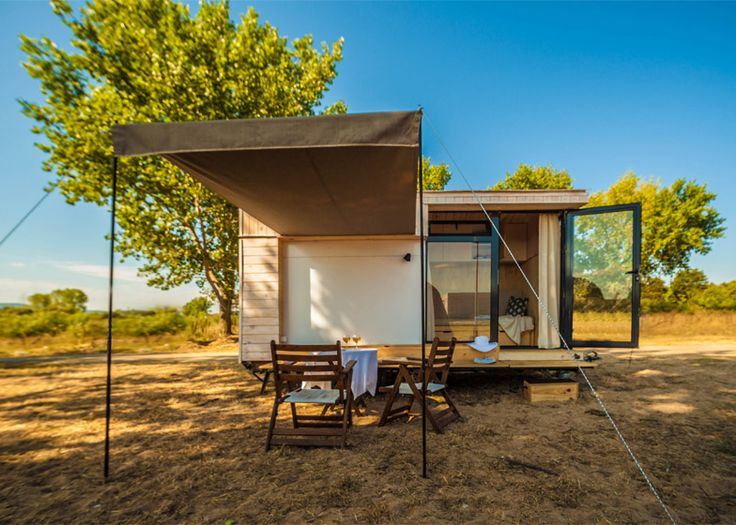 Hristina Hristova's tiny holiday home can be towed on a trailer