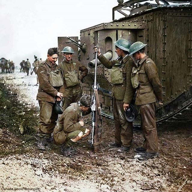 Image result for WW1 british tank crew