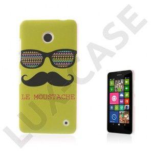 Westergaard (Overskæg & Briller Gul) Nokia Lumia 630 / 635 Cover