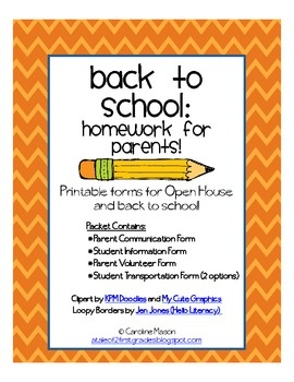 A pack of printable forms for Open House or back to school.  Contents include: Parent Contact and Communication Form, Student Information Form, Par...: Open House, Parent Contact, Schools, Student Information Form, School Stuff, Parent Volunteer, Communication Form, Printable Forms, Back To School