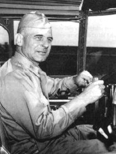 """Jimmy Doolittle (1896 - 1993) Led the first US air raid on the Japanese home islands in World War II by flying B-25 bombers off the deck of a US aircraft carrier, his team of specially trained men was known as """"Doolittle's Raiders"""""""