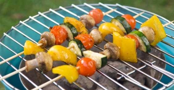 receitas de espetinho vegetariano