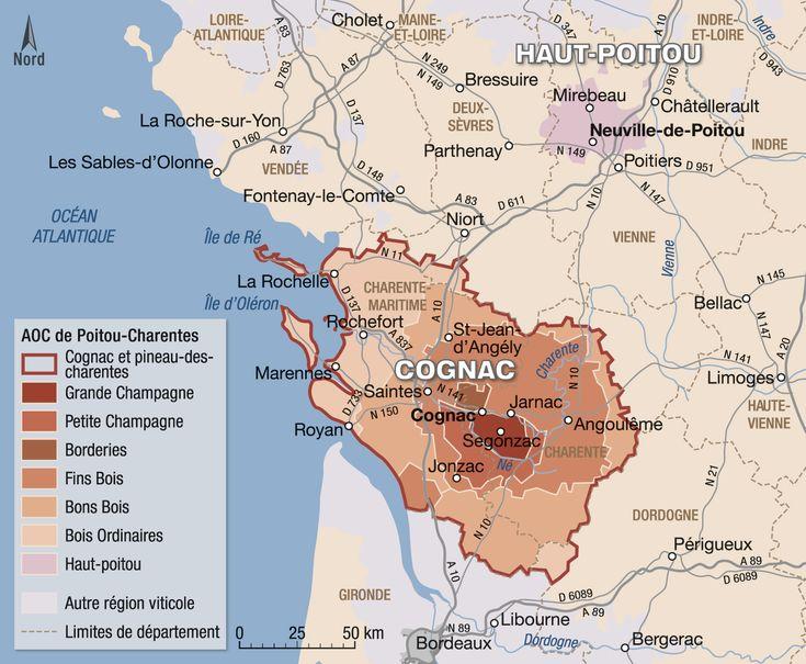 Le Cognac (avec images) | Carte des vins, Vin de france, Vins