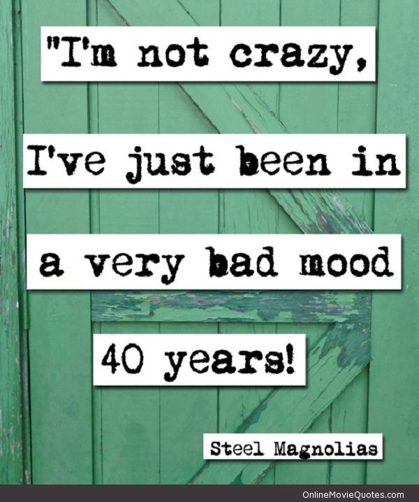 Funny Quotes     QUOTATION – Image :     Quotes about Funny – Description  Steel Magnolias #movie #quote @ www.OnlineMovieQu…  Sharing is Caring – Hey can you Share this Quote !