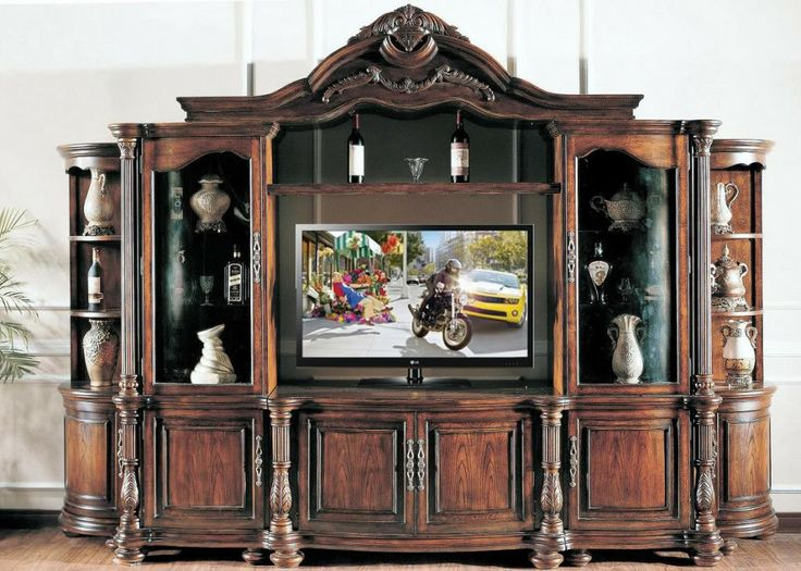ornate wood entertainment centers 2