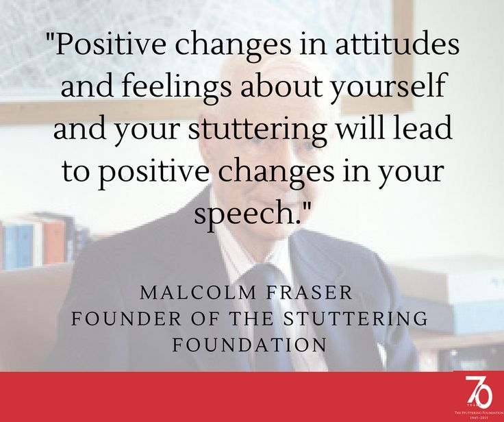 Advice from Malcolm Fraser's Book Self-Therapy for the Stutterer. Download a free version of the internationally-acclaimed book here.