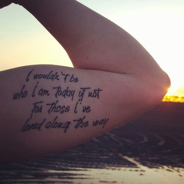 Eric Church: Those I've loved song tattoo