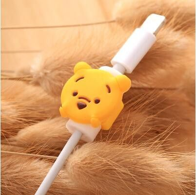 cartoon cable protector data line cord protector protective case cable winder cover for iphone usb charging
