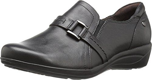 Hush Puppies Womens Charming Oleena Slip OnBlack LeatherUS 11 W *** Want to know more, click on the image.(This is an Amazon affiliate link and I receive a commission for the sales)