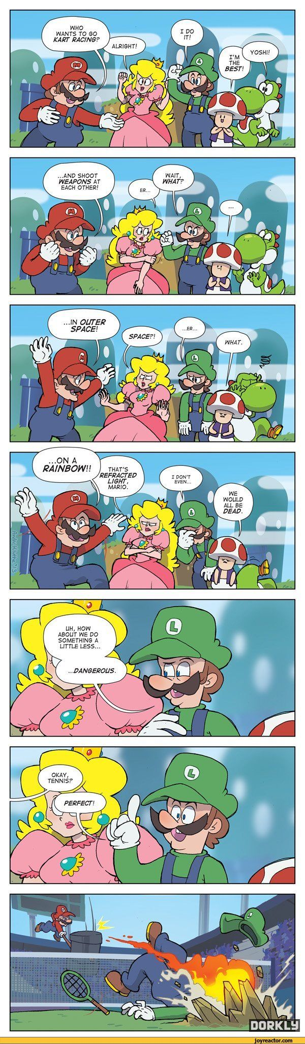 All Mario games should be rated M if you think about it