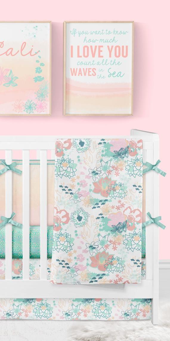 Girl Crib Bedding Ocean Baby, Beach Baby Crib Bedding