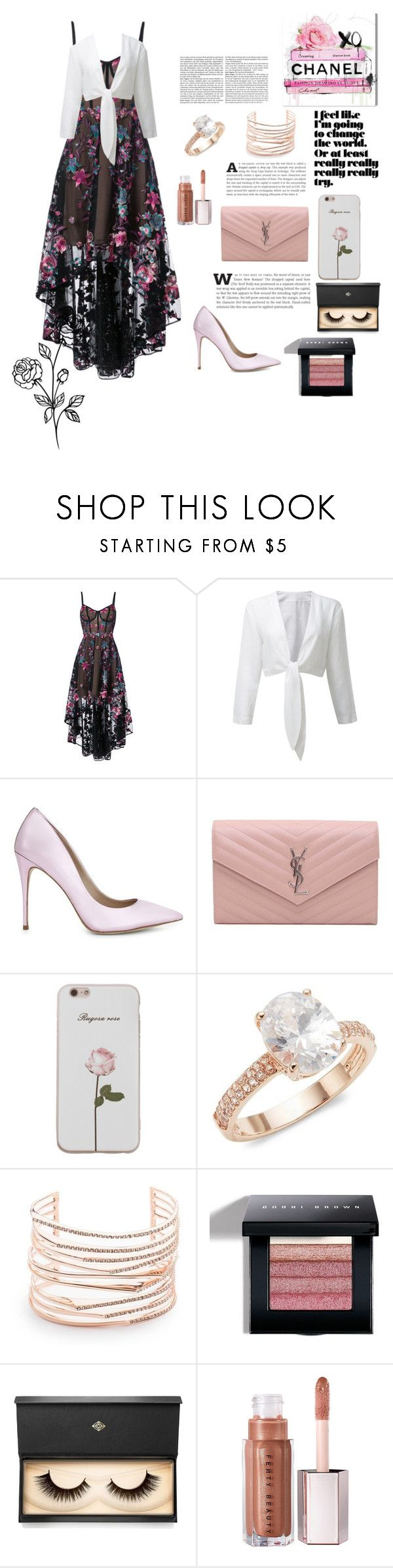 """""""butterfly's"""" by ari-may-16 ❤ liked on Polyvore featuring Notte by Marchesa, ALDO, Yves Saint Laurent, Saks Fifth Avenue, Alexis Bittar, Bobbi Brown Cosmetics and Lash Star Beauty"""