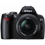 Nikon D40 6.1MP Digital SLR Camera Kit with 18-55mm f/3.5-5.6G ED II AF-S DX Zoom-Nikkor Lens (Camera)By Nikon
