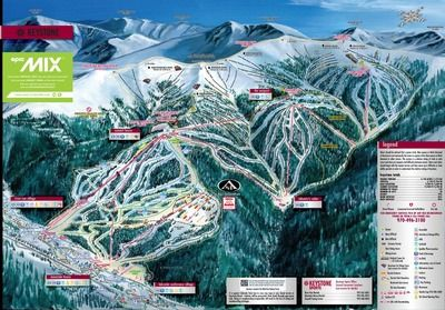 Keystone Resort - Ski Map (Colorado, USA)