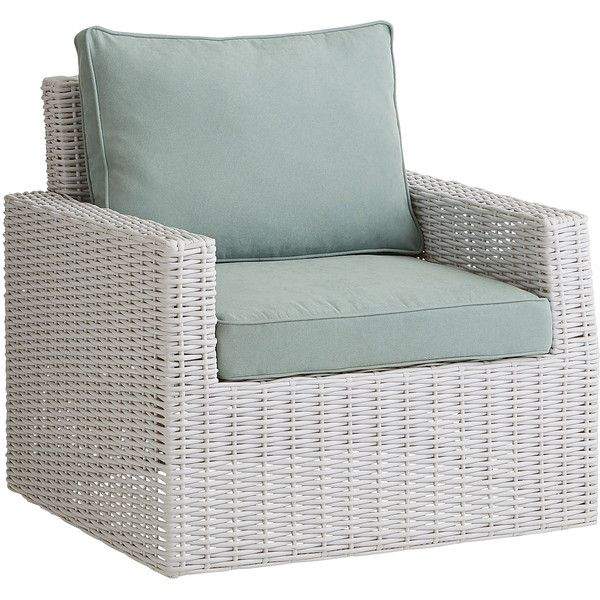 Pier 1 Imports Echo Beach Swivel Chair   White Featuring Polyvore Home  Outdoors Patio Furniture Outdoor Part 75