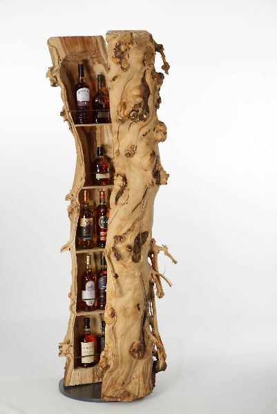 www.stamm-bar.ch Individually made bars out of a hollowed tree trunk