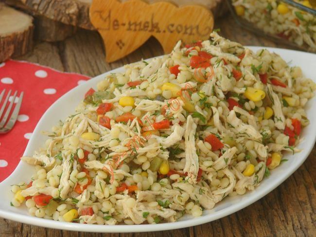 Tavuklu Kuskus Salatası Resimli Tarifi - Yemek Tarifleri