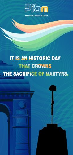 On Martyrs Day, we gratefully remember the countless freedom fighters who sacrificed their all for our Country.   #MartyrsDay #PIBMPune #PIBM