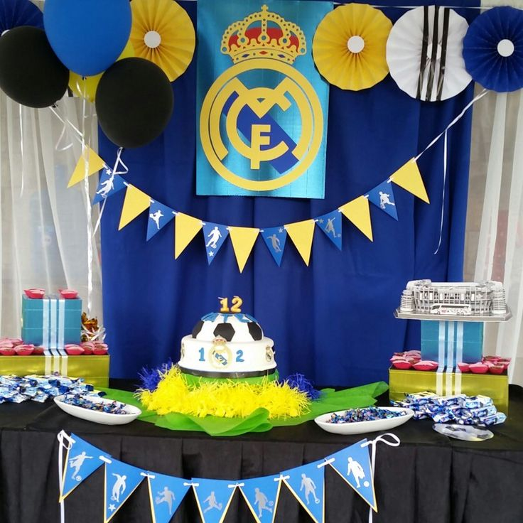 decoracin de cumpleaos real madrid by kot handmade