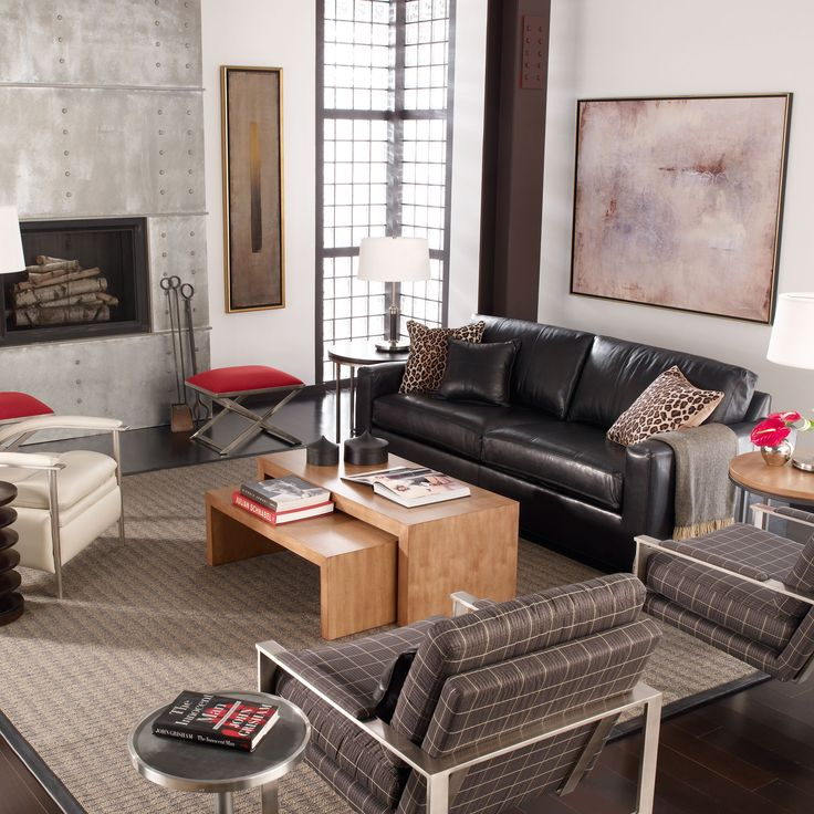1000 images about living room red accents on pinterest dark brown ottomans and red chairs for Brown black and red living room