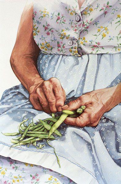 """Granny's Hands"" ~ Jill Pritchett Professional Watercolorist"