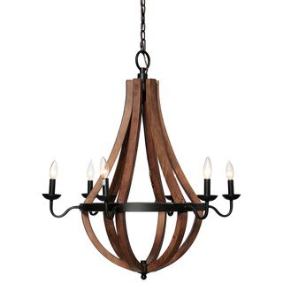 Vineyard Oil Rubbed Bronze 6 Light Chandelier Ping Great Deals On Chandeliers Pendants To Pinterest