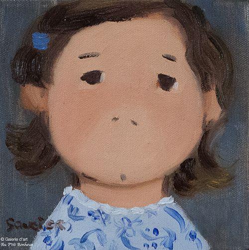 Guylène Saucier, 'La robe chic', 6'' x 6''   Galerie d'art - Au P'tit Bonheur - Art Gallery